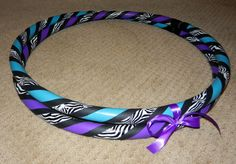 Custom Collapsible Zebra Print Hula Hoop - Design Your Own Zebra Hoop - Any Color and Size via Etsy