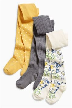 Buy Yellow Buttercup Floral Tights Three Pack (0mths-6yrs) online today at Next: Australia