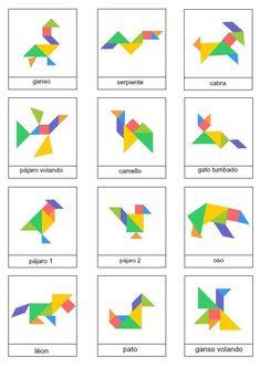 Tangrams to print - Lulu the mole, free games for kids Ce fantastic return on Montessori Activities, Learning Activities, Preschool Activities, Tangram Printable, Art For Kids, Crafts For Kids, Tangram Puzzles, Math Art, Pattern Blocks
