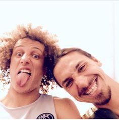 David Luiz and Zlatan Ibrahimovic, two of my favorite athletes!  PSG