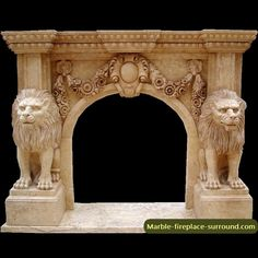 animal element marble fireplace surround from New Home Stone Limited is factory price but high quality ,we have many experience on carving marble fireplace surround and ship it to your home address