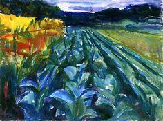Cabbage Field Edvard Munch - 1915
