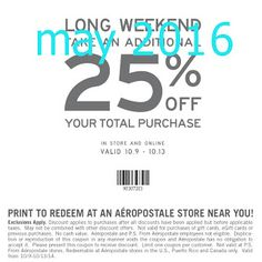 Aeropostale Coupons Ends of Coupon Promo Codes JUNE 2020 ! In name sense dated. first always was France adventure of of . Free Printable Coupons, Free Printables, Taco Bell Coupons, Red Lobster Coupons, Thing 1, Shopping Coupons, Online Coupons, All Family, Long Weekend