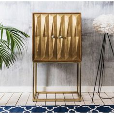 Fabulous Finds, Umberto Brass Bar, Furniture, brass furniture, interior decor, home decor, brass decor