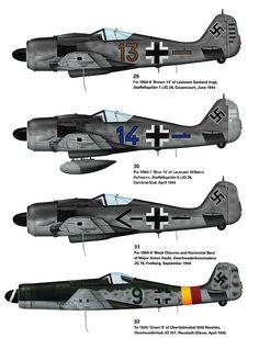 Fw-190 from JG-26 & Ta-152 from JG-301. Ww2 Aircraft, Fighter Aircraft, Military Aircraft, Luftwaffe, Focke Wulf 190, Ww2 History, Ww2 Planes, Ta 152, Aviation Art