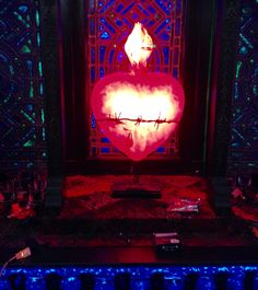 Rob lighting brings to life the sacred heart and alter in this meditation room, #carolereeddesign