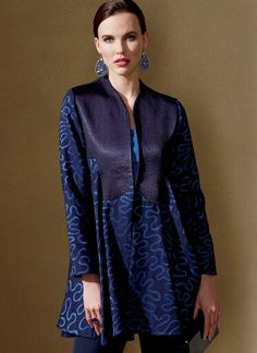 V1561 | Misses' Lined Swing Jacket with Bodice Detail | Vogue Patterns Dress Making Patterns, Coat Patterns, Clothing Patterns, Fall Patterns, Sewing Blouses, Vogue Sewing Patterns, Line Jackets, Fashion Outfits, Clothes For Women