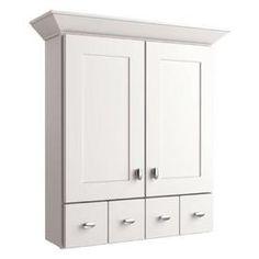 Diamond Freshfit Palencia White 25-In W X 29-In H X 8.25-In D White Bathroom Wall Cabinet 20Rvwc25