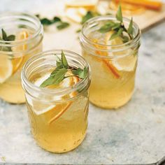 Pinot Grigio, brandy, orange juice, lemon, Thai basil, soda // More Refreshing Summer Drinks: http://www.foodandwine.com/slideshows/modern-summer-cocktails #foodandwine