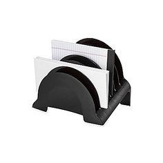 Rubbermaid Regeneration® Black Plastic 6-Compartment Incline Sorter (Recycled)