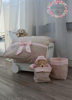 Housse de couette liberty lit petite fille : Linge de lit enfants par l-armoire-rose