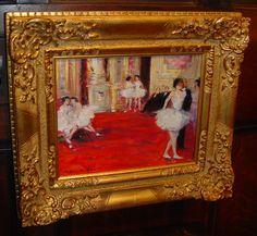 Les Ballerinas dans Le Salon - Jules René Hervé , Private collection. #Hervé
