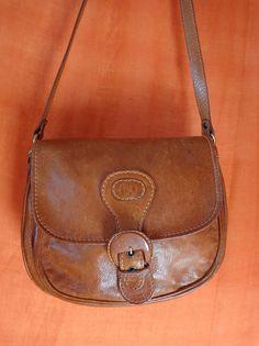 Vintage Handtaschen - Tasche*Vintage*Braun*Leder*used*Hippie* - ein Designerstück von SweetSweetVintage bei DaWanda