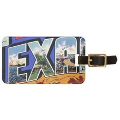 Greetings From Texas Bag Tag - accessories accessory gift idea stylish unique custom