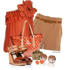 Its Summer Pumpkin by stylesbyjoey on Polyvore