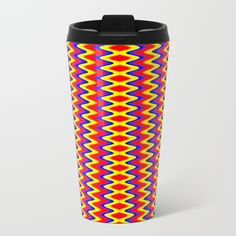 Zig Zag Metal Travel Mug
