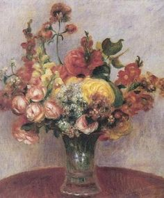 Flowers in a Vase, 1898. Pierre Renoir.