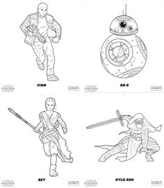 BB8 The Force Awakens coloring page Star Wars Party