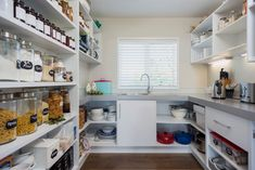 Well organized in the scullery kitchen