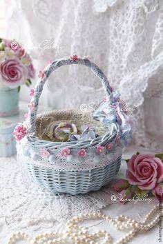 Нежная свадебная корзинка для цветов / Wedding flower basket #wedding #decor #accessory