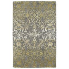 Kaleen Divine Gray/Gold Area Rug; NO round option, but good for entry or dining area