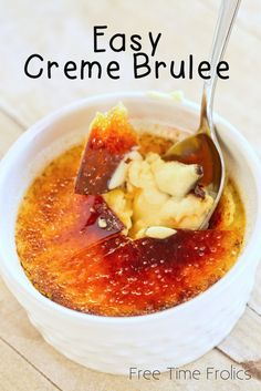 Easy Creme Brulee via Free Time Frolics #recipe #cremebrulee