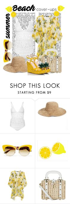 Lemonade 2 🍋🍋(Beach Cover-up) by hemmo1drauhl on Polyvore featuring moda, Dolce&Gabbana, Zimmermann, Kate Spade, Nordstrom and coverups