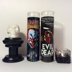Killer Klowns From Outer Space Horror Prayer Candle in Red. on Etsy, $8.99