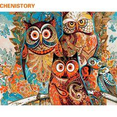 DIY Framed acrylic painting,wall canvas art,canvas art,wall canvas,wal – King Kong Apa-Your Trend Buddy Acrylic Paint Brushes, Acrylic Painting Canvas, Diy Painting, Canvas Canvas, Canvas Size, Marco Diy, Kit Pintura, Owl Family, Friends Family