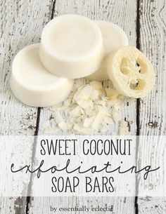 Sweet Coconut Exfoliating Soap Bars