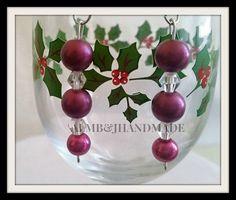 Beaded Earrings , Purple Beaded Earrings , Dangling Earrings , Beaded Jewelry , OOAK  Purple Earrings