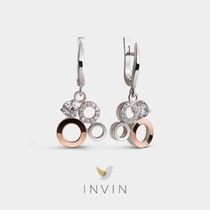 These statement-making earrings combine the striking lines of Scandinavian design with the subtle elegance of Sweden's greatest city. Silver ring with parts in rose gold and cubic zirconia Rose Gold Earrings, Simple Outfits, Scandinavian Design, Stockholm, Fine Jewelry, Silver Rings, Jewelry Design, Glamour, Touch
