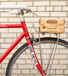 Wooden Bicycle Sixer Basket