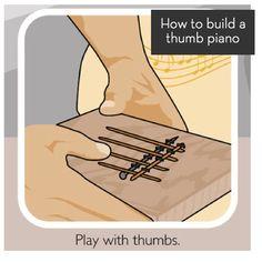 How to make a thumb piano! #DIY