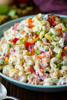 Macaroni salad is one of those things that I haven't always appreciated. I would always walk right pasta pasta salads and potato salads and now I absolutely love both of them! They are perfect for par