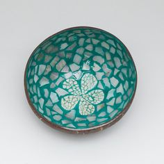 lacquer coconut shell bowl with mother of pearl and by Namigurumi, $3.99