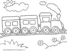 Aneka Gambar Mewarnai - Gambar Mewarnai Kereta Api Untuk Anak PAUD dan TK.   Pelajaran menggambar da...