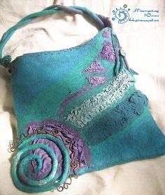 """""""Бабочки спящих Хибин"""" сумка - авторская сумка,валяная сумка,единственный экземпляр"""
