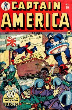 Captain America Comics # 40 by Syd Shores
