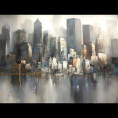 Tableau de new york autour d 39 un cadre encadrement - Tableau de new york ...
