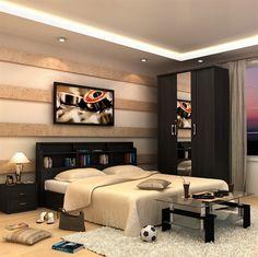 Picture of CALINO BEDROOM SET WITH 3 DOOR WARDROBE WENGE