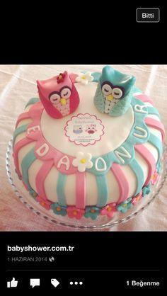 Owl cake baykus pasta