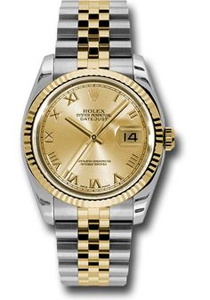 Rolex Watches - Datejust 36mm - Steel and Gold Yellow Gold - Fluted Bezel - Jubilee - Style No: 116233 chrj