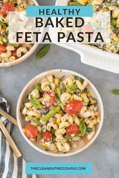 The Best Baked Feta Pasta Recipe made in under an hour. Cheesy, delicious & easy to make! This viral TikTok recipe is worth the hype. Loaded with veggies and easily made gluten free! Healthy Vegetable Recipes, Healthy Gluten Free Recipes, Healthy Pasta Recipes, Healthy Pastas, Healthy Meal Prep, Easy Healthy Dinners, Healthy Baking, Lunch Recipes, Healthy Foods