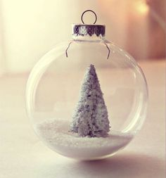DIY Winter Wonderland Ornaments, plus 14 other DIY holiday decorations.