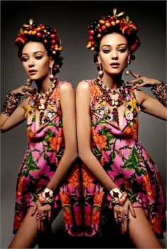 vintage-influenced Carmen Miranda style