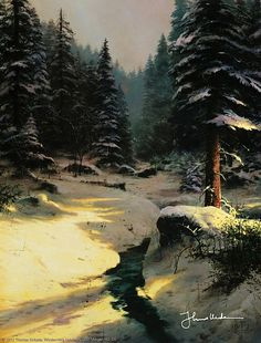 "Thomas Kinkade - ""Winter Light"""