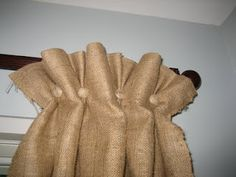 burlap curtains...cute