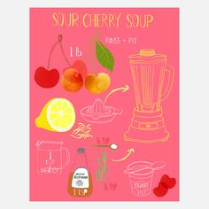 Sour Cherry Print 9x12  by Claudia Pearson