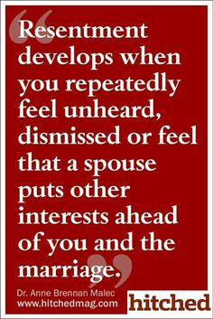 Resentment develops when you repeatedly feel unheard, dismissed or feel that a spouse put other interests ahead of you and the marriage. Get the best tips and how to have strong marriage/relationship here: Marriage Relationship, Marriage Advice, Love And Marriage, Infedelity In Marriage, Priority Quotes Relationship, Lonely Marriage, Young Marriage, Lonely Wife, Relationship Priorities